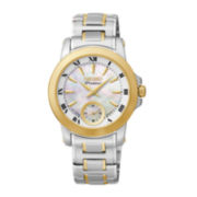 Seiko® Premier Womens Two-Tone Stainless Steel Bracelet Watch SRKZ66