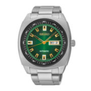 Seiko® Recraft Mens Stainless Steel Automatic Watch SNKM97