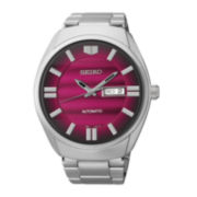 Seiko® Recraft Mens Stainless Steel Automatic Watch SNKN05