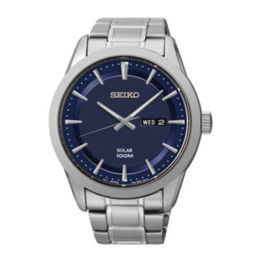 jcpenney.com | Seiko® Mens Stainless Steel Solar Watch SNE361
