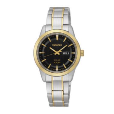 jcpenney.com | Seiko® Womens Two-Tone Stainless Steel Solar Bracelet Watch SUT166