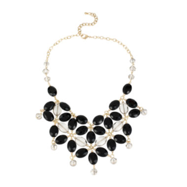 jcpenney.com | Bleu™ Black and White Bib Necklace