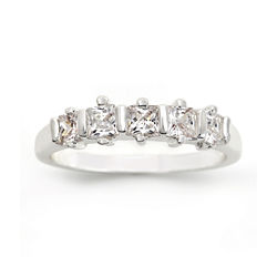 city x city® Cubic Zirconia 5-Stone Band Ring