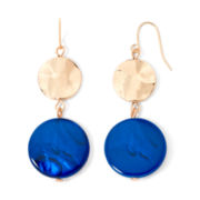 Mixit™ Gold-Tone Blue Shell Drop Earrings