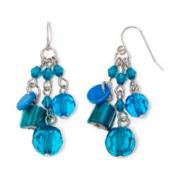 Mixit™ Silver-Tone Blue and Teal Small Cluster Earrings