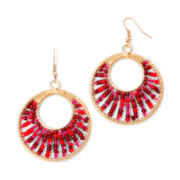 Mixit™ Gold-Tone Berry Seedbead Hoop Earrings