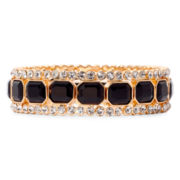 Monet® Gold-Tone Black Stretch Bracelet