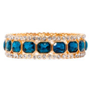 Monet® Gold-Tone Teal Stretch Bracelet