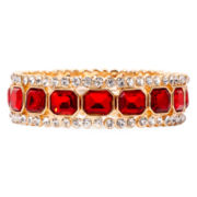 Monet® Gold-Tone Garnet-Colored Stretch Bracelet