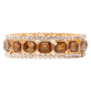 Monet® Gold-Tone Topaz-Colored Stretch Bracelet