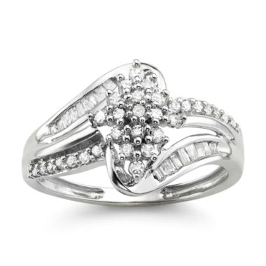 jcpenney.com | 1/3 CT. T.W. Diamond 10K White Gold Cluster Ring