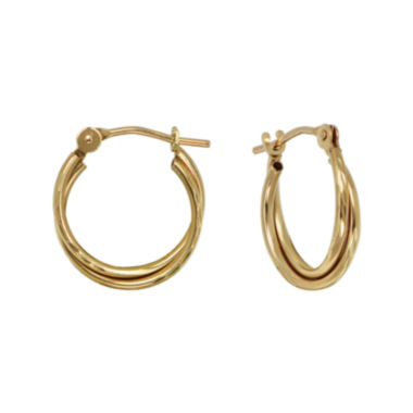 jcpenney.com | Girls 14K Yellow Gold Double Hoop Earrings
