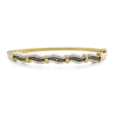 jcpenney.com | 1/10 CT. T.W. Diamond Wave Bangle Bracelet