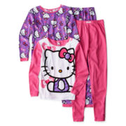 Hello Kitty® 4-pc. Pajama Set - Girls 4-10