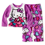 Hello Kitty® Dots 2-pc. Pajama Set - Girls 2t-4t