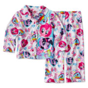 My Little Pony 2-pc. Button-Down Pajama Set - Girls 2t-4t