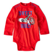 Okie Dokie® Long-Sleeve Graphic Bodysuit – Boys newborn-9m