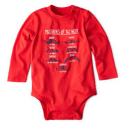 Okie Dokie® Long-Sleeve Attitude Bodysuit – Boys newborn-24m
