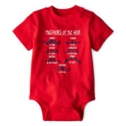Okie Dokie® Short-Sleeve Attitude Bodysuit – Boys newborn-9m