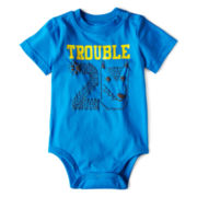 Okie Dokie® Short-Sleeve Sports Bodysuit – Boys newborn-9m