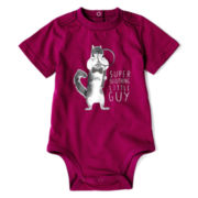 Okie Dokie® Short-Sleeve Animal Bodysuit – Boys newborn-9m