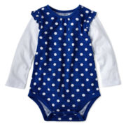 Okie Dokie® Long-Sleeve Bodysuit - Girls 12m- 24m