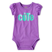 Okie Dokie® Short-Sleeve Bodysuit – Girls newborn-9m