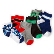 Okie Dokie® 6-pk. Low-Cut Socks - Boys 12m-6