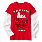 Snoopy Long-Sleeve Doubler Tee - Girls 7-16