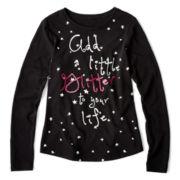 Arizona Long-Sleeve Holiday Graphic Tee - Girls 6-16 and Plus