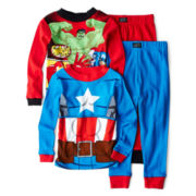 Captain America and the Avengers 4-pc. Pajama Set – Boys 4-10