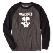 Call of Duty Long-Sleeve Graphic Raglan Tee – Boys M-XXL