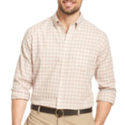 Van Heusen® No-Iron Grid Long-Sleeve Woven Shirt