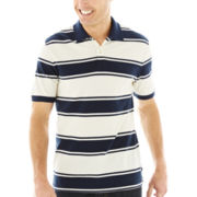 St. John's Bay® Striped Piqué Polo