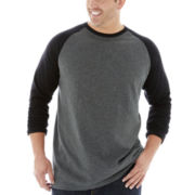 The Foundry Supply Co.™ Raglan–Sleeve Slub Tee–Big & Tall