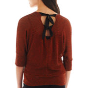 by&by 3/4-Sleeve Tie-Back Top