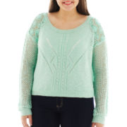 Arizona Cropped Lace Sweater - Plus