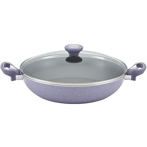 """Farberware® New Traditions 12½"""" Speckled Nonstick Skillet with Lid"""