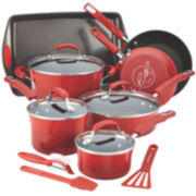 Rachael Ray® 14-pc. Hard-Enamel Nonstick Cookware Set