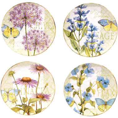 jcpenney.com | Certified International Herb Garden Set of 4 Dinner Plates