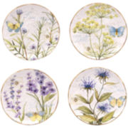 Herb Garden Set of 4 Dessert Plates