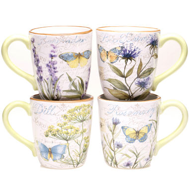 jcpenney.com | Certified International Herb Garden Set of 4 Mugs