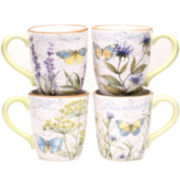 Certified International Herb Garden Set of 4 Mugs