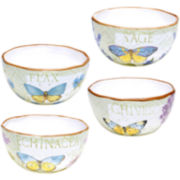 Herb Garden Set of 4 Ice Cream Bowls