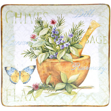 "jcpenney.com | Certified International Herb Garden 12½"" Square Serving Platter"