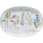 Certified International Herb Garden Oval Serving Platter