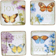 Herb Garden Set of 4 Canapé Plates
