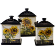 French Sunflowers 3-pc. Canister Set