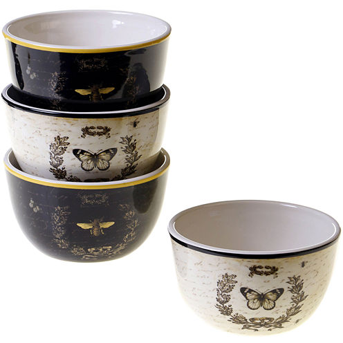 Certified International French Sunflowers Set of 4 Ice Cream Bowls