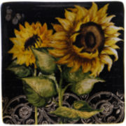 "Certified International French Sunflowers 12½"" Square Serving Platter"